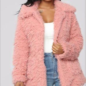 Cute Fuzzy Jacket Mauve